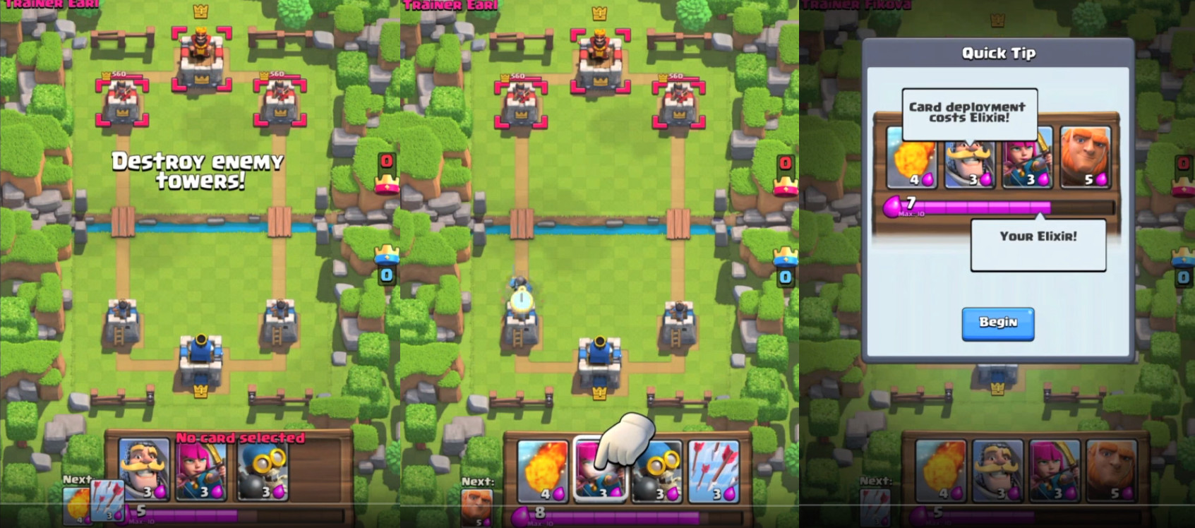 What Video Games taught us about User Onboarding - Clash Royale Video Game Onboarding - Helppier Blog