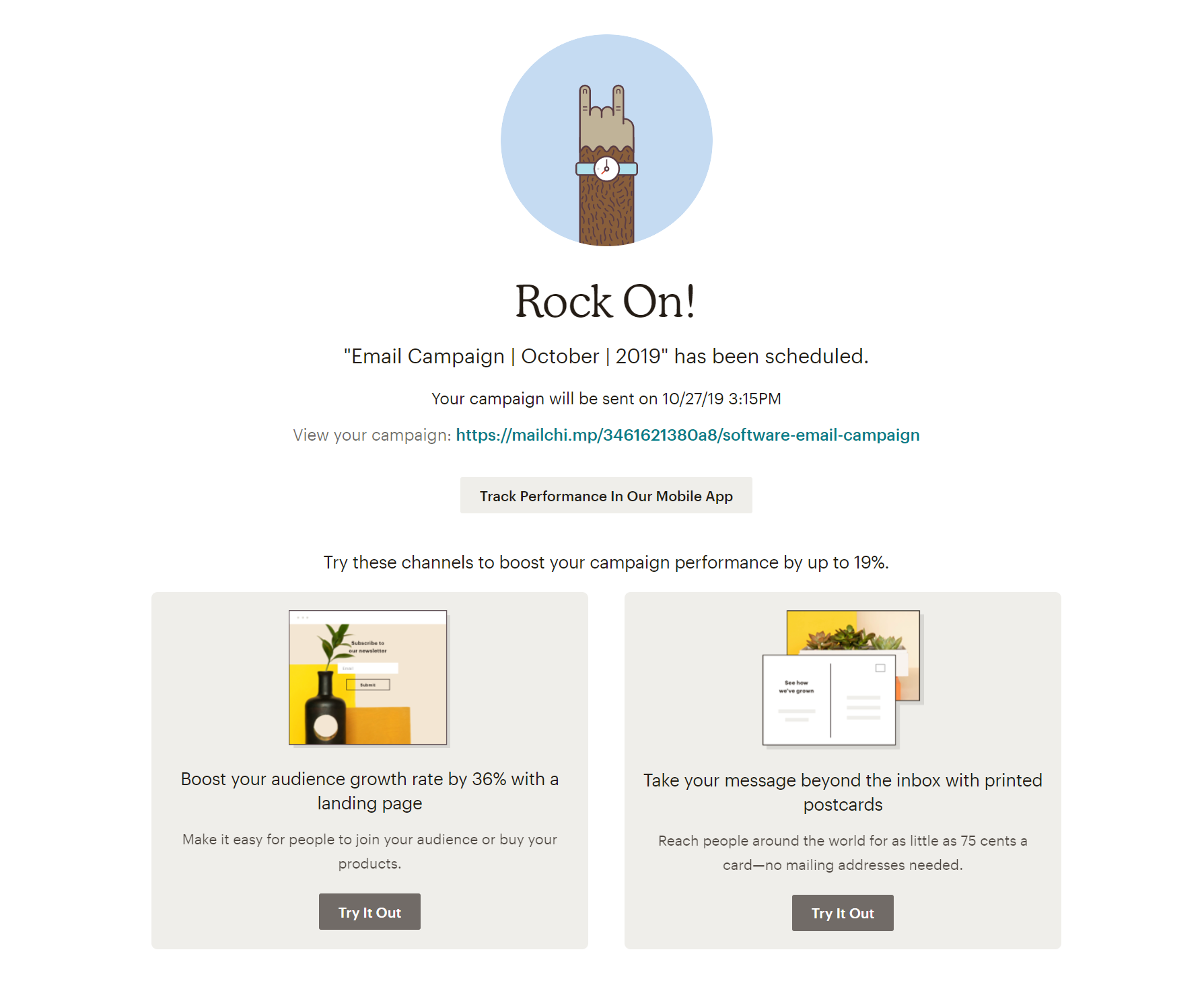 User Engagement Strategies MailChimp Example - Helppier Blog