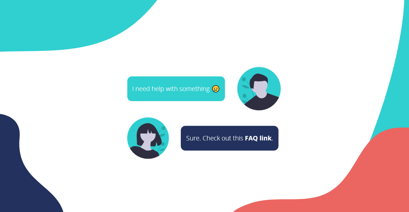 Who said your FAQ page needs to be boring - Chatbots - Helppier Blog