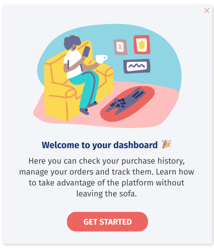 In-app Messages and Interactive User Guides for Onboarding - Helppier Welcome Messages