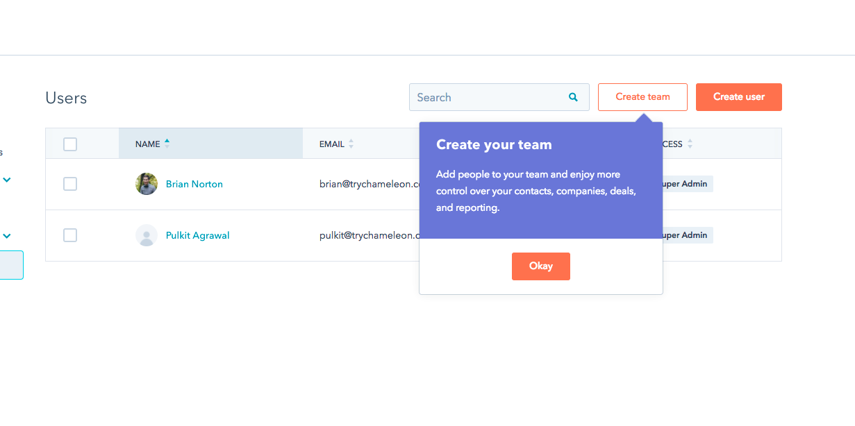 How to improve user onboarding in your SaaS product - Hubspot Example